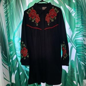 ASOS Embroidery Western Shirt Dress Size 10